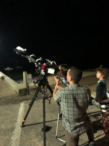 Justin Samaha showing young stargazers the planets